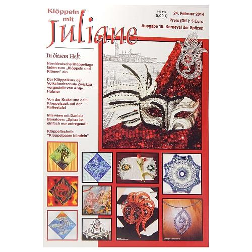 Klöppeln mit Juliane Heft Nr. 19 in der Klöppelwerkstatt, Klöppeln, Erzgebirgische Zeitschrift