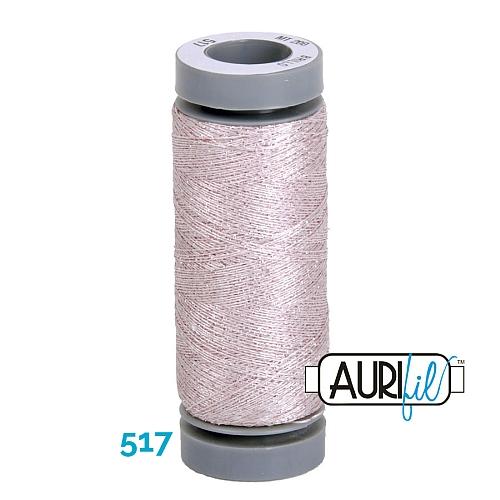 AURIFIL - Brillo - Glitzergarn Farbe Nr. 517, Effektgarn, Glitzergarn, Metallic, Stickgarn, in der Klöppelwerkstatt erhältlich