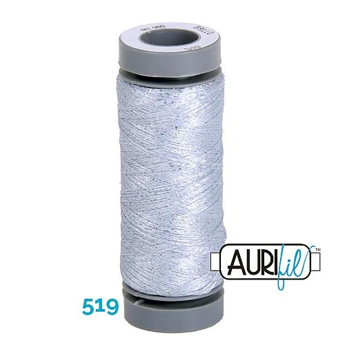 AURIFIL - Brillo - Glitzergarn Farbe Nr. 519, Effektgarn, Glitzergarn, Metallic, Stickgarn, in der Klöppelwerkstatt erhältlich