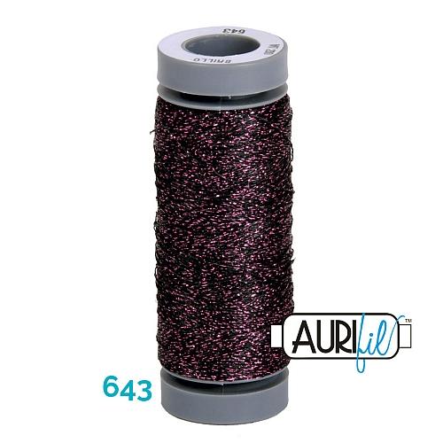 AURIFIL - Brillo - Glitzergarn Farbe Nr. 643, Effektgarn, Glitzergarn, Metallic, Stickgarn, in der Klöppelwerkstatt erhältlich