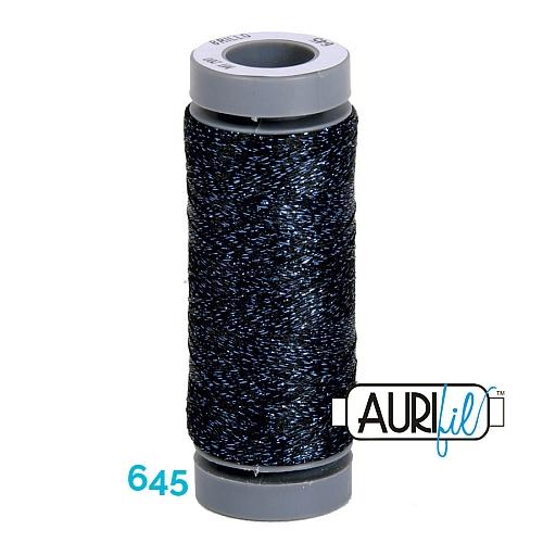 AURIFIL - Brillo - Glitzergarn Farbe Nr. 645, Effektgarn, Glitzergarn, Metallic, Stickgarn, in der Klöppelwerkstatt erhältlich