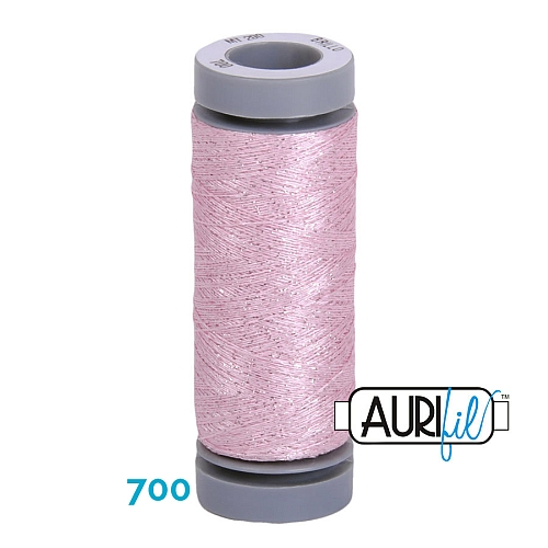 AURIFIL - Brillo - Glitzergarn Farbe Nr. 700, Effektgarn, Glitzergarn, Metallic, Stickgarn, in der Klöppelwerkstatt erhältlich