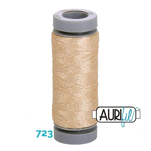 AURIFIL - Brillo - Glitzergarn Farbe Nr. 723, Effektgarn, Glitzergarn, Metallic, Stickgarn, in der Klöppelwerkstatt erhältlich