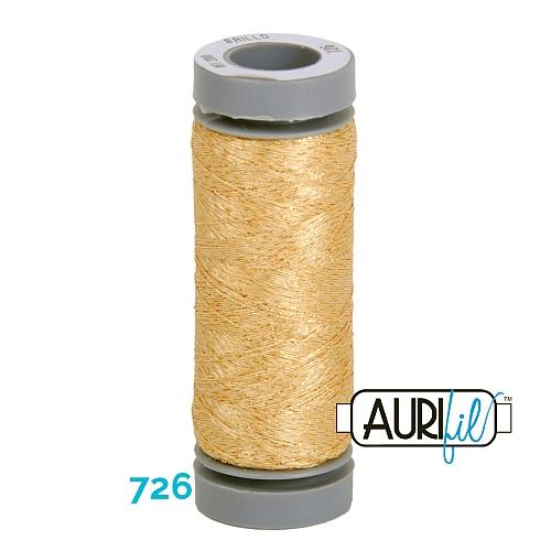AURIFIL - Brillo - Glitzergarn Farbe Nr. 726, Effektgarn, Glitzergarn, Metallic, Stickgarn, in der Klöppelwerkstatt erhältlich