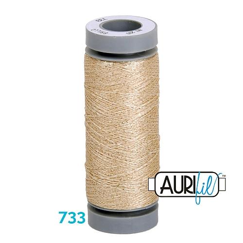 AURIFIL - Brillo - Glitzergarn Farbe Nr. 733, Effektgarn, Glitzergarn, Metallic, Stickgarn, in der Klöppelwerkstatt erhältlich
