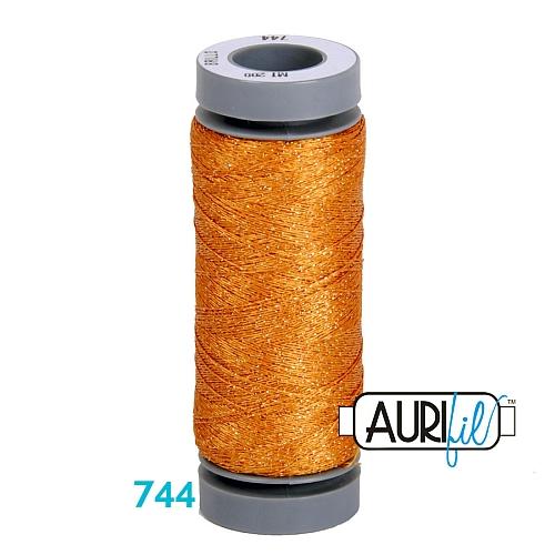 AURIFIL - Brillo - Glitzergarn Farbe Nr. 744, Effektgarn, Glitzergarn, Metallic, Stickgarn, in der Klöppelwerkstatt erhältlich