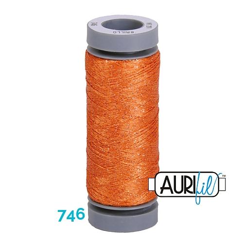 AURIFIL - Brillo - Glitzergarn Farbe Nr. 746, Effektgarn, Glitzergarn, Metallic, Stickgarn, in der Klöppelwerkstatt erhältlich