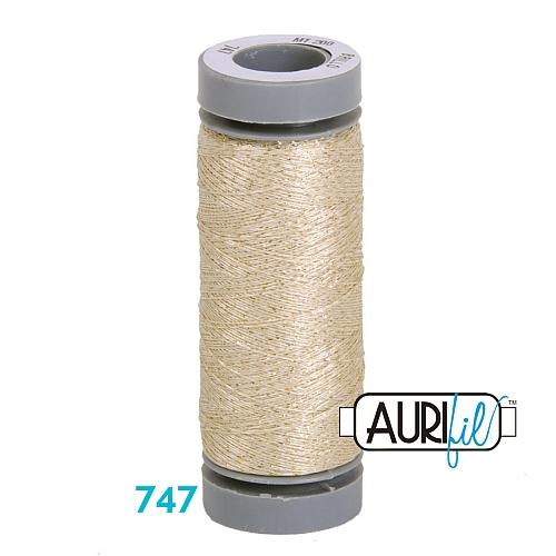AURIFIL - Brillo - Glitzergarn Farbe Nr. 747, Effektgarn, Glitzergarn, Metallic, Stickgarn, in der Klöppelwerkstatt erhältlich