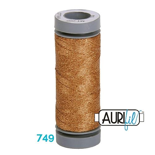AURIFIL - Brillo - Glitzergarn Farbe Nr. 749, Effektgarn, Glitzergarn, Metallic, Stickgarn, in der Klöppelwerkstatt erhältlich