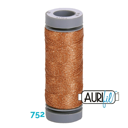 AURIFIL - Brillo - Glitzergarn Farbe Nr. 752, Effektgarn, Glitzergarn, Metallic, Stickgarn, in der Klöppelwerkstatt erhältlich