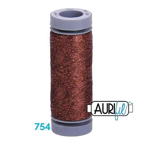 AURIFIL - Brillo - Glitzergarn Farbe Nr. 754, Effektgarn, Glitzergarn, Metallic, Stickgarn, in der Klöppelwerkstatt erhältlich