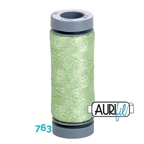 AURIFIL - Brillo - Glitzergarn Farbe Nr. 763, Effektgarn, Glitzergarn, Metallic, Stickgarn, in der Klöppelwerkstatt erhältlich