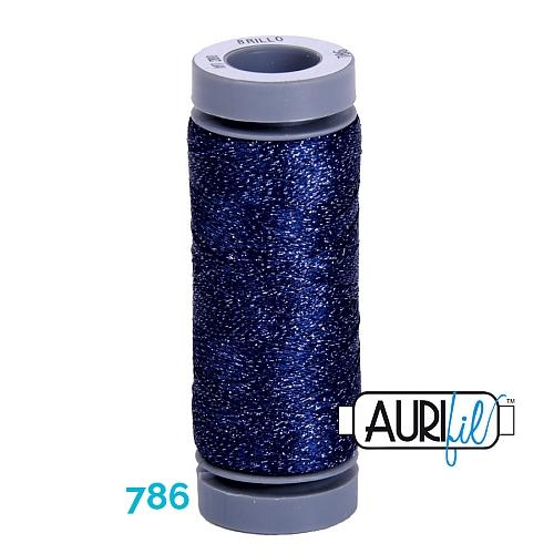AURIFIL - Brillo - Glitzergarn Farbe Nr. 786, Effektgarn, Glitzergarn, Metallic, Stickgarn, in der Klöppelwerkstatt erhältlich