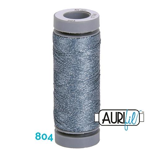 AURIFIL - Brillo - Glitzergarn Farbe Nr. 804, Effektgarn, Glitzergarn, Metallic, Stickgarn, in der Klöppelwerkstatt erhältlich