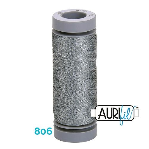 AURIFIL - Brillo - Glitzergarn Farbe Nr. 806, Effektgarn, Glitzergarn, Metallic, Stickgarn, in der Klöppelwerkstatt erhältlich