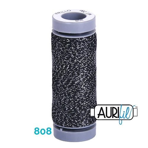 AURIFIL - Brillo - Glitzergarn Farbe Nr. 808, Effektgarn, Glitzergarn, Metallic, Stickgarn, in der Klöppelwerkstatt erhältlich