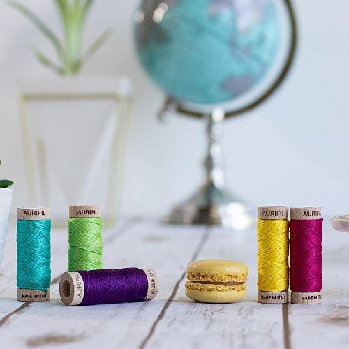 AURIFLOSS - Stickgarn in 270 Farben - Klöppelwerkstatt, Minispulen mit 4,3g, teilbares Baumwollgarn zum Sticken, Klöppeln, Nähen, Patchwork, ägyptische Baumwolle