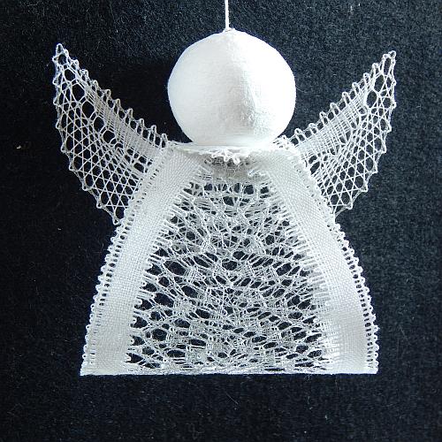 Klöppelbrief Engelchen 6 ~ M.L. Prinzhorn, in der Klöppelwerkstatt erhältlich, klöppeln, Weihnachten