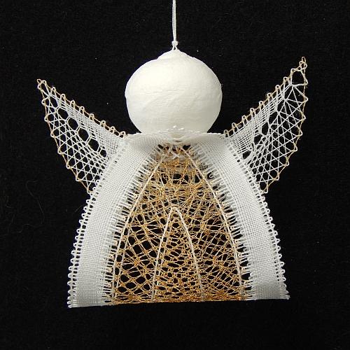 Klöppelbrief Engelchen 7 ~ M.L. Prinzhorn, in der Klöppelwerkstatt erhältlich, klöppeln, Weihnachten