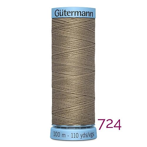 Gütermann Seide S303, Seidengarn auf der 100m Spule Farbe 724, in der Klöppelwerkstatt erhältlich und sehr gut zum klöppeln, häkeln, quilten, nähen, für Patchwork und Kumihimo geeignet.