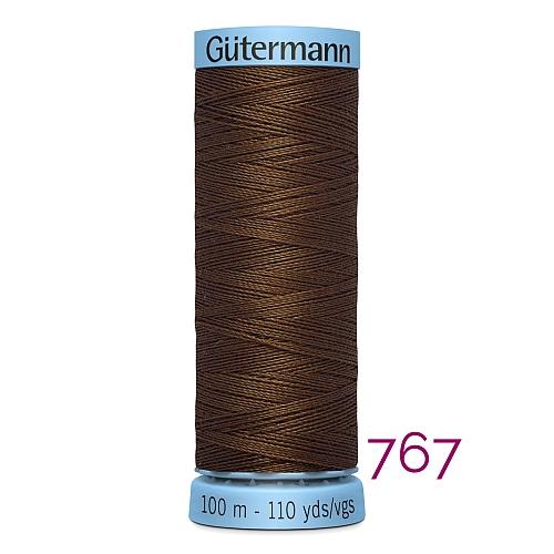 Gütermann Seide S303, Seidengarn auf der 100m Spule Farbe 767, in der Klöppelwerkstatt erhältlich und sehr gut zum klöppeln, häkeln, quilten, nähen, für Patchwork und Kumihimo geeignet.