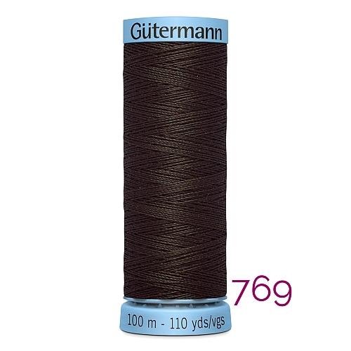 Gütermann Seide S303, Seidengarn auf der 100m Spule Farbe 769, in der Klöppelwerkstatt erhältlich und sehr gut zum klöppeln, häkeln, quilten, nähen, für Patchwork und Kumihimo geeignet.