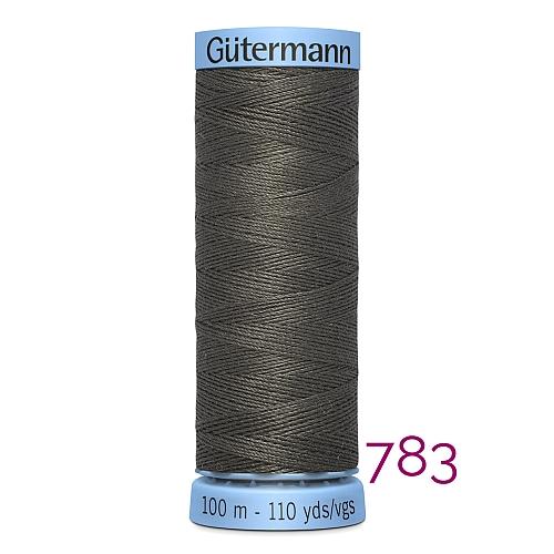 Gütermann Seide S303, Seidengarn auf der 100m Spule Farbe 783, in der Klöppelwerkstatt erhältlich und sehr gut zum klöppeln, häkeln, quilten, nähen, für Patchwork und Kumihimo geeignet.