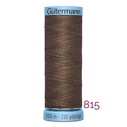 Gütermann Seide S303, Seidengarn auf der 100m Spule Farbe 815, in der Klöppelwerkstatt erhältlich und sehr gut zum klöppeln, häkeln, quilten, nähen, für Patchwork und Kumihimo geeignet.