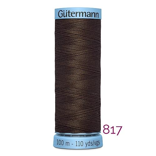 Gütermann Seide S303, Seidengarn auf der 100m Spule Farbe 817, in der Klöppelwerkstatt erhältlich und sehr gut zum klöppeln, häkeln, quilten, nähen, für Patchwork und Kumihimo geeignet.