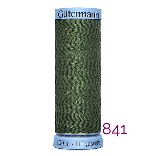 Gütermann Seide S303, Seidengarn auf der 100m Spule Farbe 841, in der Klöppelwerkstatt erhältlich und sehr gut zum klöppeln, häkeln, quilten, nähen, für Patchwork und Kumihimo geeignet.