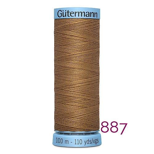 Gütermann Seide S303, Seidengarn auf der 100m Spule Farbe 887, in der Klöppelwerkstatt erhältlich und sehr gut zum klöppeln, häkeln, quilten, nähen, für Patchwork und Kumihimo geeignet.