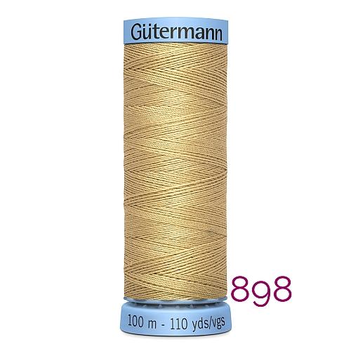 Gütermann Seide S303, Seidengarn auf der 100m Spule Farbe 898, in der Klöppelwerkstatt erhältlich und sehr gut zum klöppeln, häkeln, quilten, nähen, für Patchwork und Kumihimo geeignet.