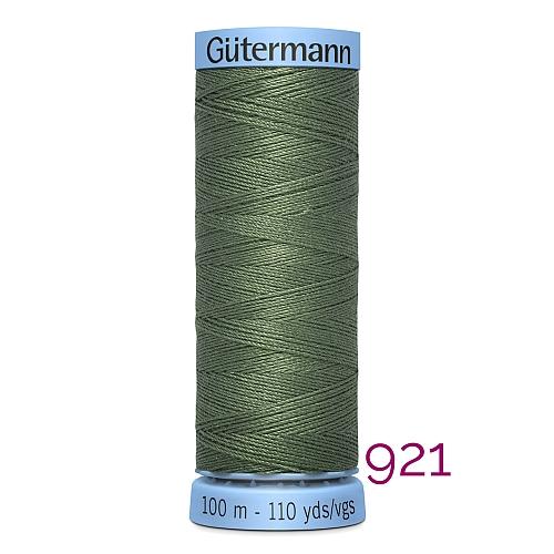 Gütermann Seide S303, Seidengarn auf der 100m Spule Farbe 921, in der Klöppelwerkstatt erhältlich und sehr gut zum klöppeln, häkeln, quilten, nähen, für Patchwork und Kumihimo geeignet.