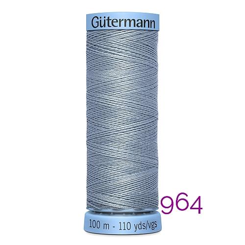 Gütermann Seide S303, Seidengarn auf der 100m Spule Farbe 964, in der Klöppelwerkstatt erhältlich und sehr gut zum klöppeln, häkeln, quilten, nähen, für Patchwork und Kumihimo geeignet.