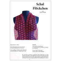Klöppelbrief Schal Flöckchen~Petra Tschanter