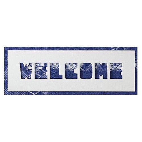 Passepartout ~ Welcome, eine schöne Möglichkeit um Spitze attraktiv zu zeigen, in der Klöppelwerkstatt, Häkeln, Klöppeln, Sticken, Fotos