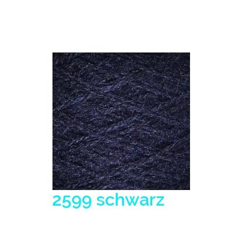 Tussah Seide Nm 20/2 Farbe 2599 schwarz, zum Stricken, Weben, Klöppeln, Häkeln, in der Klöppelwerkstatt erhältlich, Seidengarne, Seidengarn
