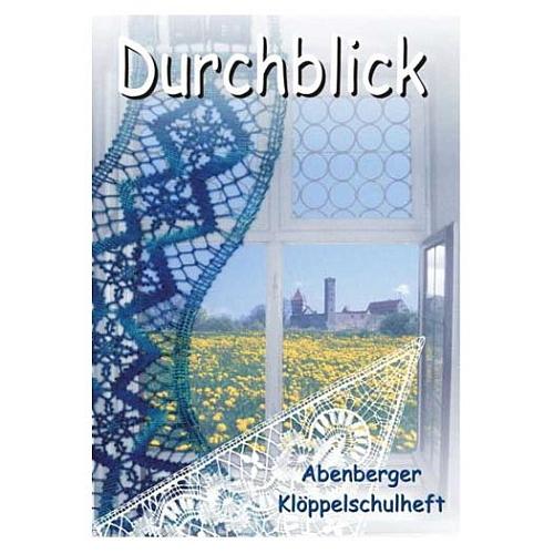 Durchblick - Klöppelschule Abenberg, in der Klöppelwerkstatt, 6 Spitzen für´s Fenster, teilweise mit Ecken oder als Bänder geklöppelt. Klöppeln, Torchon, Gardinen