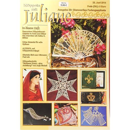 Klöppeln mit Juliane Heft Nr. 20 in der Klöppelwerkstatt, Klöppeln, Erzgebirgische Zeitschrift