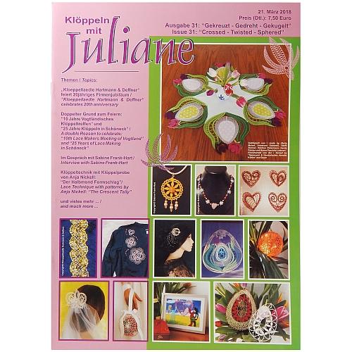 Klöppeln mit Juliane Heft Nr. 31 in der Klöppelwerkstatt