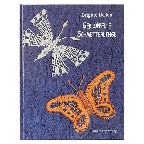 Geklöppelte Schmetterlinge ~ Brigitte Bellon in der Klöppelwerkstatt erhältlich