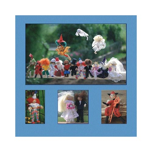 15 zauberhafte Figuren zwischen Tag und Traum ~ Christine Mirecki in der Klöppelwerkstatt, Hexe, Teufel, Engel, Robin Hood, usw., klöppeln