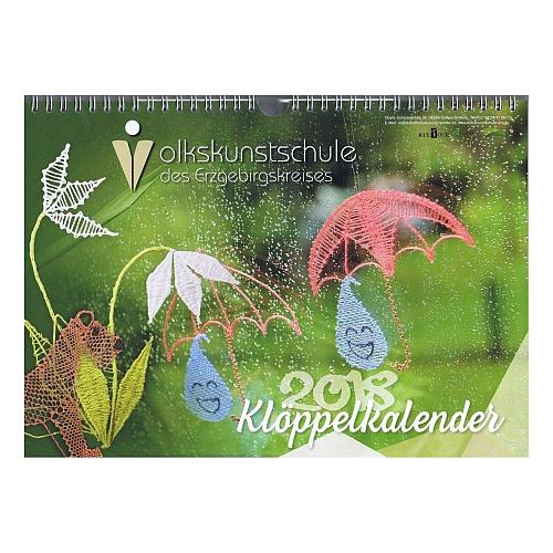 Klöppelkalender 2018 - Volkskunstschule des Erzgebirgskreises in der Klöppelwerkstatt erhältlich, zum klöppeln