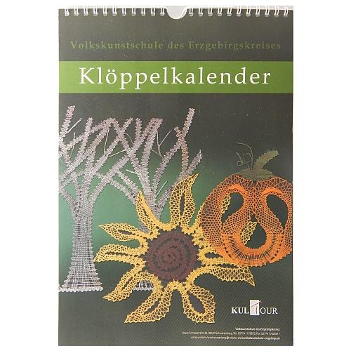 Klöppelkalender - Volkskunstschule des Erzgebirgskreises in der Klöppelwerkstatt erhältlich