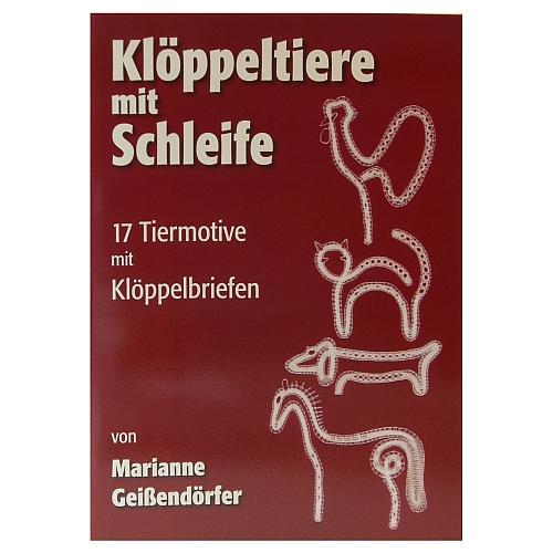 Klöppeltiere mit Schleife ~ Marianne Geißendörfer in Mailänder Technik, in der Klöppelwerkstatt erhältlich.