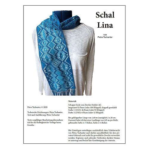 Klöppelbrief Schal Lina ~ Petra Tschanter in der Klöppelwerkstatt erhältlich Grvanmoer´scher Grund