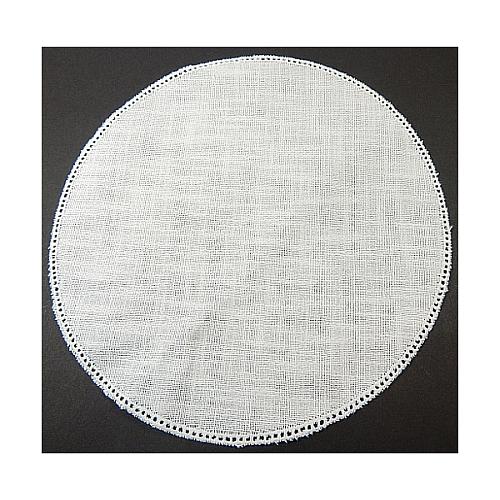 Klöppeln mit Anhäkelform Kreis d=25cm, Anhäkelform Lochranddeckchen, häkeln, Klöppeln, Klöppelwerkstatt