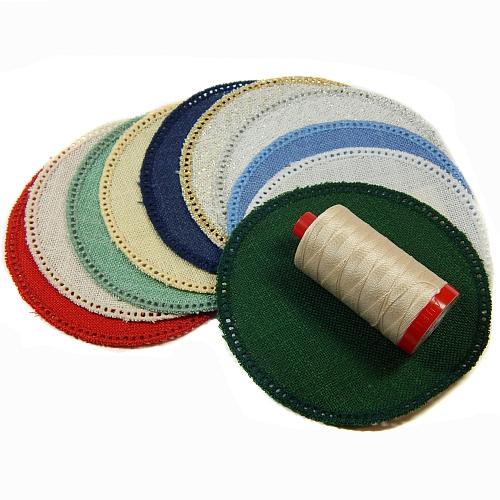 Anhäkelform/Lochranddeckchen Kreis d=12cm, 10 Farben, Klöppelwerkstatt, klöppeln, häkeln