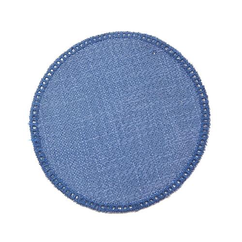 Anhäkelform/Lochranddeckchen Kreis d=12cm dunkel-blau, Klöppelwerkstatt, klöppeln, häkeln