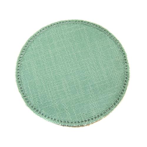 Anhäkelform/Lochranddeckchen Kreis d=12cm grün, Klöppelwerkstatt, klöppeln, häkeln